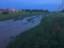"the little ""creek"" by our house...we got ""a little rain"" the past few days!"