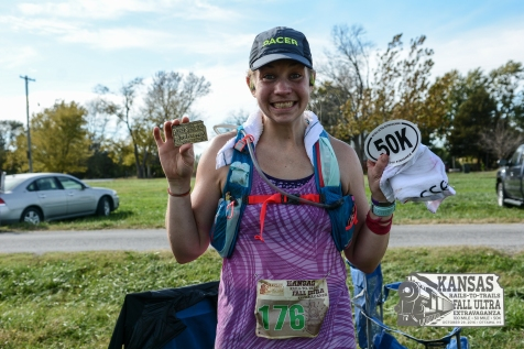 First 50K, KS Rails-To-Trails Fall Ultra, October 2016