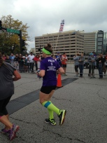 Taken by: June (a running friend that was in town for the race and I didn't even know it!!)